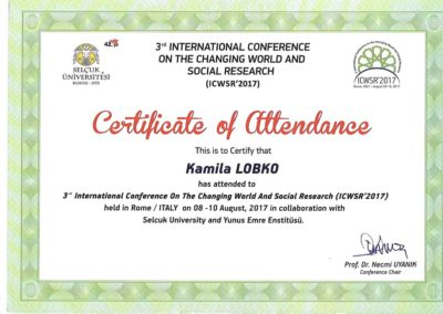 IIIrd_International_Conference_on_the_Changing_World_and_Social_Research_w_Rzymie_Kamila_Łobko